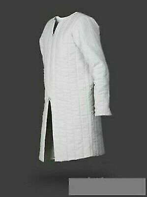 Medieval Gambeson White Reenactment Mast Looking Middle Clothing Best Design • 55.87£