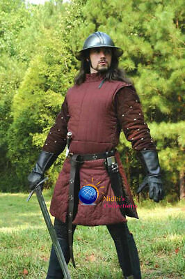Medieval Outfit Clothing Knight Armor Gambeson Sca/Hema/Larp Dress Reenactment • 60.96£