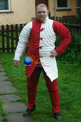 Medieval Outfit Clothing Plane Sca/Hema Dress Reenactment Knight Armor Gambeson • 61.79£