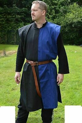 Medieval Tunic Armor Reenactment Clothing Costume Blue&Black Color Renaissance • 50.66£