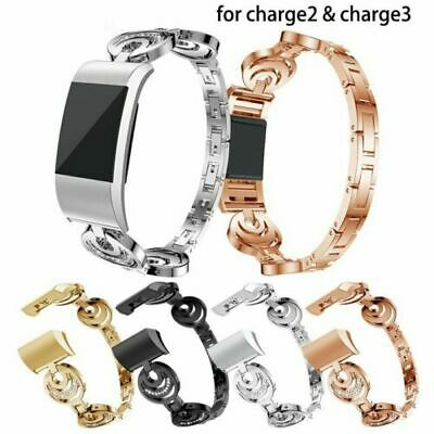 AU14.99 • Buy Luxury Stainles Steel Wrist Watch Band Strap Bracelet Clasp For Fitbit Charge2 3