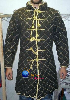Gambeson Outfit Clothing Medieval Knight Armor Sca/Hema/ Larp Dress Reenactment • 64.33£