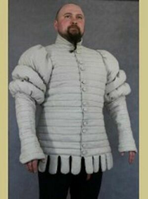 New Medieval Costume Viking Gambeson Reenactment & Theater White Color Clothing • 65.99£