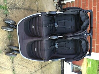 Britax B-agile Double Pushchair, Black, In Very Good Used Condition. • 150£