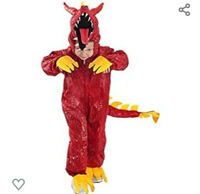£38.21 • Buy Child Boy's Red New Year Fire Chinese Dragon Halloween Costume Jumpsuit Tail S