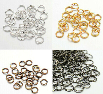 £0.99 • Buy Jump Rings For Jewellery Making Closed Jump Rings Unsoldered Gold Silver Bronze
