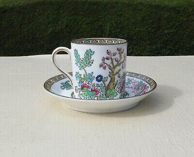 Antique 1890 Bridgwood Ye Olde Anchor China Indian Tree Coffee Cup & Saucer • 9.99£