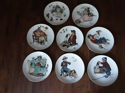 $ CDN75.31 • Buy Norman Rockwell Four Seasons Set 8 Gorham Limited Collector Plates Series 1971