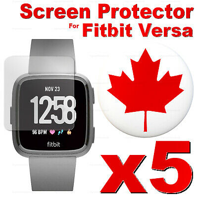 $ CDN12.99 • Buy 5 PACK - Tempered Glass Screen Protector For Fitbit Versa 2 / Versa Lite