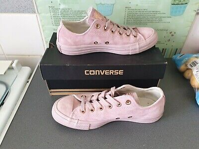 £27 • Buy ** Worn Twice ** Unisex Pale Purple Suede Converse All Star Size Uk 5 Boxed