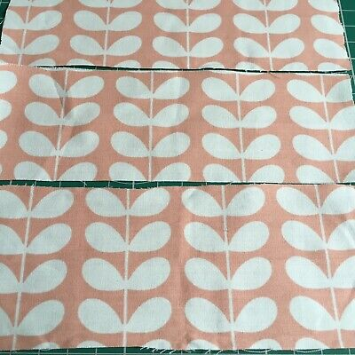 Orla Kiely Tiny Stem Blush Pink Bundle 35 Small Pieces Off Cuts Remnants Cotton • 3.99£