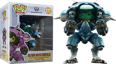 AU47.45 • Buy Funko Pop Vinyl Overwatch D.va And Meka Blueberry #177 Exclusive 6  Vinyl Figure