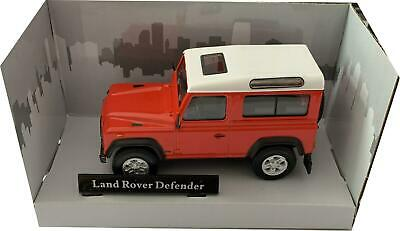 Land Rover Defender 90 Red With White Roof 1:43 Scale Model From Cararama • 12£