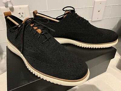 $ CDN105.44 • Buy New Cole Haan 2 ZeroGrand Stitchlite Wingtip Oxford Shoes Size 13 M Black C27568