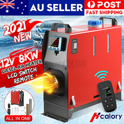 AU169.89 • Buy HCalory 8KW 12V Diesel Air Heater Tank Remote LCD Thermostat Motorhome Boat Car