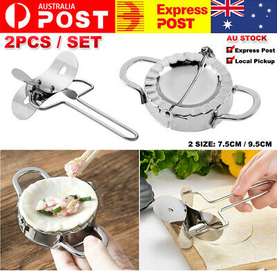 AU10.99 • Buy Pastry Tool  Dumpling Maker Mould  Stainless Steel   Flour Ring Cutter Kitchen