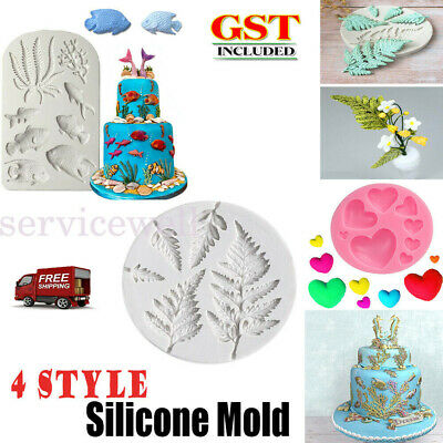 AU7.38 • Buy Silicone Sea Fish Coral Fondant Cake Decorating Mold Sugarcraft Icing Mould Tool