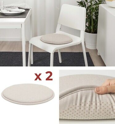 AU21.95 • Buy 2 X IKEA Chair Seat Pad Cushion Kitchen Office Dining Patio Chair Washable Beige