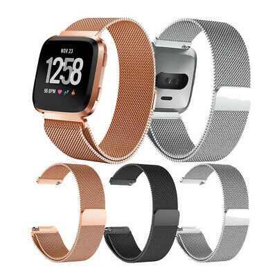 $ CDN9.37 • Buy Metal Milanese Band For Fitbit Versa 1 2 Lite Magnetic Loop Strap Stainless Gold