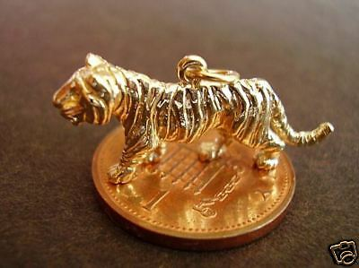 Lovely 9ct 9k Gold '  Tiger '  Charm Charms • 162£