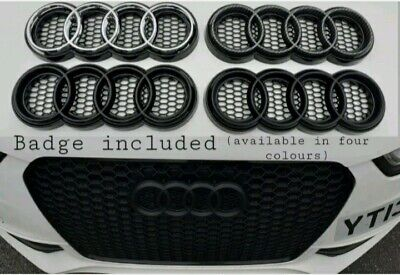 £59.99 • Buy Audi Emblem Badge Rings Holder Honeycomb Grills (with Badge)A1 A3 A4 A5 A6 A7 A8