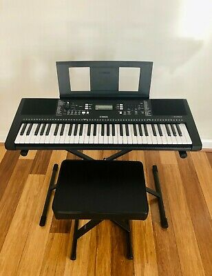 AU489 • Buy Yamaha PSRE363 Portable Keyboard + Music Rest + Xtreme Stand And Stool + Adaptor