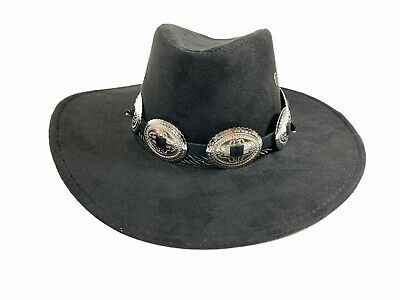 £17.97 • Buy Cowboy Wester Hat Steampunk Topper Victorian Mad Hatter Slash Concho Band