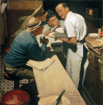 $ CDN11.99 • Buy Norman Rockwell War News Giclee Art Paper Print Paintings Poster Reproduction