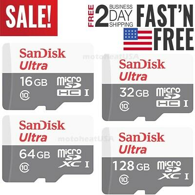 $19.80 • Buy SanDisk Micro SD Card 16GB 32GB 64GB 128GB TF Class 10 For Smartphones Tablets