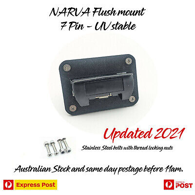 AU23.97 • Buy NARVA Flush Mount 7 Pin Flat Trailer Flush Mount No PLUG