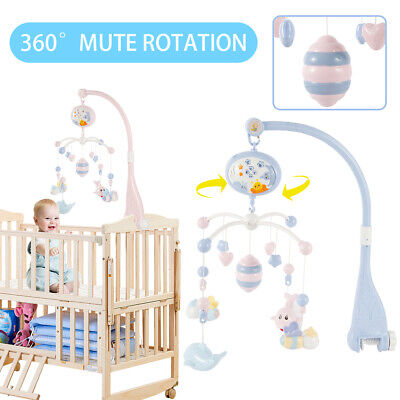 Baby Crib Mobile Musical Bed Bell Toy With Controller Music Night Light Toy UK • 17.19£