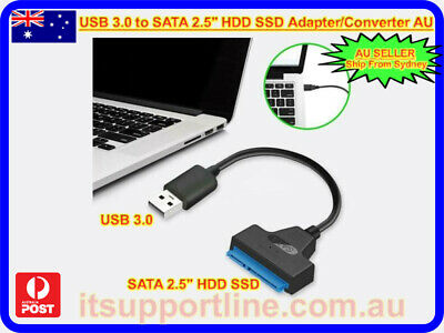 AU7.86 • Buy USB 3.0 To SATA 2.5  Hard Drive HDD SSD Adapter Cable For Desktop/Laptop AU