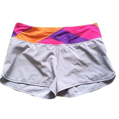 $ CDN55 • Buy Free Shipping Lululemon Groovy Run Shorts Size 8 Multicolour Lined Blue Pink