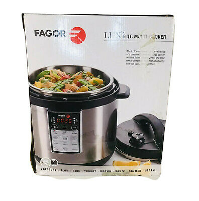 Fagor Lux Programmable Multi Cooker Electric Pressure Cooker 6-Qt - EUC • 31.22£