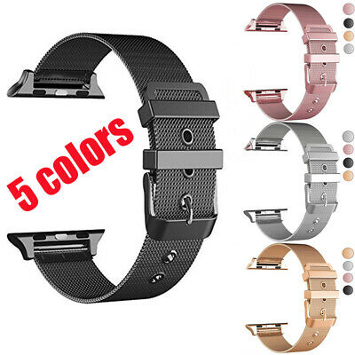 AU15.49 • Buy Milanese Apple Watch Band Strap Stainless Steel Buckle IWatch Series 6 5 4 3 2 1