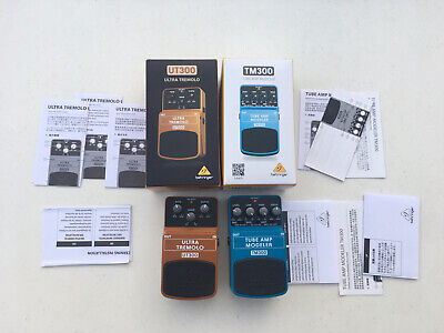 $ CDN111.53 • Buy Behringer UT300 Ultra Tremolo + TM300 Tube Amp Modeler Guitar Effect Pedal Lot