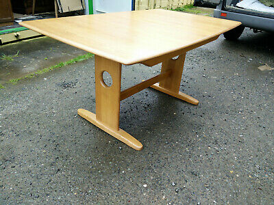 Ercol Windsor 1193 Medium Extending Refectory Dining Table Light Solid Ash  • 750£