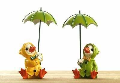 £9.99 • Buy 2 Siting Duckling Garden Ornaments Bright Outdoor Statues Ducks Decor Resin Lawn