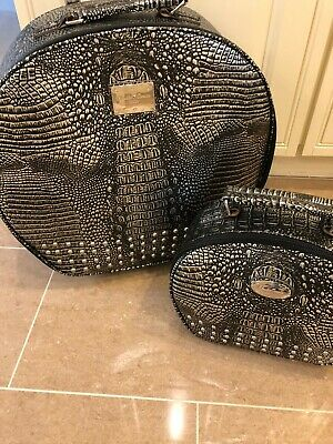 Set Of Grey And Silver Animal Print Suitcases One Medium One Hand Luggage • 50£