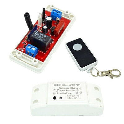220V Remote Time Delay Switch Relay Light Switches 433Mhz RF • 8.36£