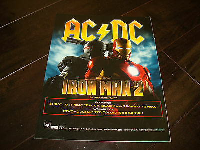 £2.85 • Buy AC/DC 2010 Marvel Ad For Iron Man 2 For Hit  Highway To Hell  &  Back In Black