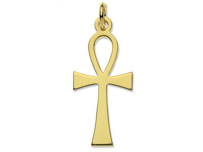 9ct Gold Ankh On 18  Gold Trace Chain • 89.95£