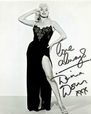 Diana Dors SIGNED AUTOGRAPHED 10  X 8  REPRODUCTION PHOTO PRINT #2 • 5.99£