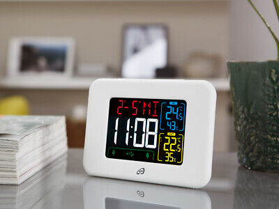 Auriol Radio-controlled Weather Station With 2 USB Ports For Charging Mobile Pho • 22.99£