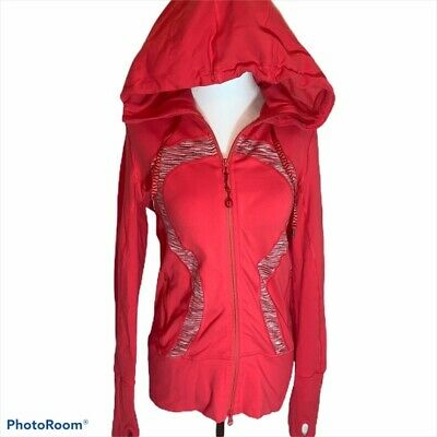 $ CDN45 • Buy LULULEMON Orange Stride Jacket With High Collar And Hood SIZE 6