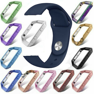 AU1.99 • Buy Soft Silicone Sport Replacement Strap Band + Steel Metal Frame For Fitbit Blaze