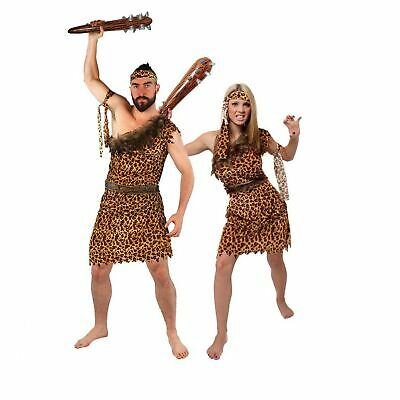 £11.95 • Buy Cave Man Woman Fancy Dress Costume Jungle Prehistoric Out Fit Stone Age