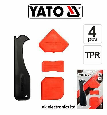 Yato Silicone Spreader Kit Tile Grout Finishing Finisher Tool+Remover/Cutter 4pc • 2.52£