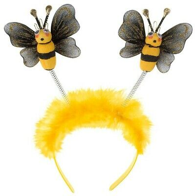 Bumble Bee Head Boppers Fancy Dress Accessory Festival Party Insect • 5.74£
