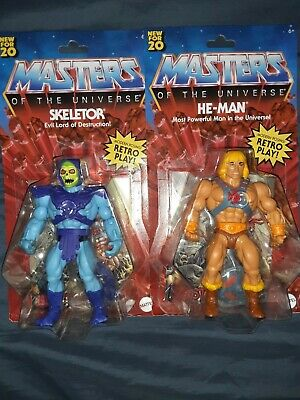 $44 • Buy 2020 He-man Masters Of The Universe Retro Action Figures - He-man / Skeletor Lot